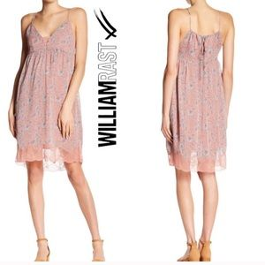 NWT William Rast Pink Floral Lace Dress Sz Large